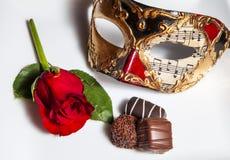 Romance de la tarjeta del día de San Valentín Fotografía de archivo
