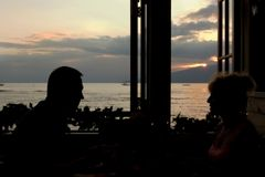 Romance de la ventana fotografía de archivo
