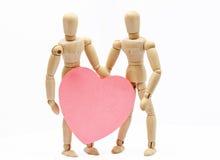 Romance de madeira 1 Fotografia de Stock