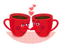Romance de Teatime Photographie stock