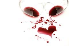 Romance de vin rouge Images stock