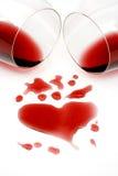 Romance de vin rouge Image libre de droits