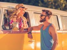 Romance de voyage par la route Photos libres de droits