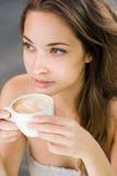 Romance del caffè Fotografia Stock
