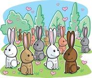 Romance del conejo stock de ilustración
