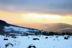 Romance del invierno Fotografía de archivo libre de regalías