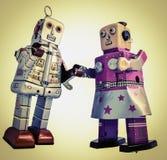 Romance del robot Imagen de archivo libre de regalías