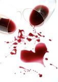 Romance del vino rosso Fotografia Stock Libera da Diritti