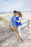 Romance della spiaggia Immagini Stock Libere da Diritti