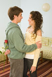 Romance delle coppie dell'adolescente Fotografia Stock Libera da Diritti