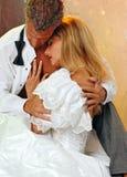 Romance dello sposo e della sposa Fotografia Stock