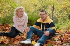 romance di autunno Fotografie Stock Libere da Diritti