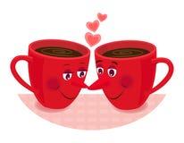Romance di Teatime Fotografia Stock
