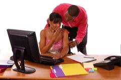 Romance do escritório Imagem de Stock