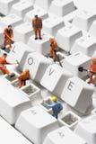 Romance do Internet Imagens de Stock Royalty Free