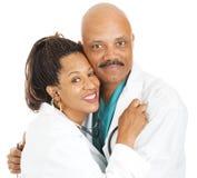 Romance do local de trabalho - doutores no amor Fotografia de Stock