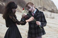 Romance durante pandemia Foto de archivo libre de regalías