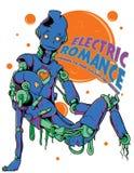 Romance eléctrico ilustración del vector