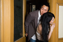 Romance en la oficina Imagen de archivo