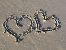 Romance en la playa Foto de archivo