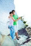 Romance en la playa Imagen de archivo