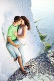 Romance en la playa Imagen de archivo libre de regalías