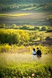 Romance en naturaleza Imagen de archivo libre de regalías