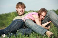 Romance en stationnement Photo libre de droits
