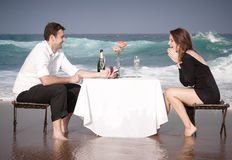 Romance Engagement Couple Love Beach Ocean Lovers Relationship royalty free stock photos