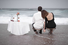 Romance Engagement Couple Love Beach Ocean Lovers Relationship Stock Photography