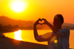 Romance et amour au bord de la mer Image stock