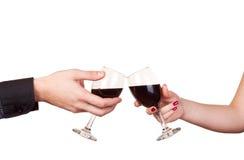 Romance et vin Photographie stock libre de droits