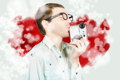 Romance in film production Stock Images