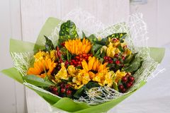 Romance flower bouquet. Romance bouquet with various flower Stock Image