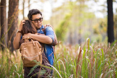 Romance in forest Stock Image