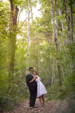 Romance in forest Royalty Free Stock Images