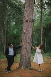 Romance in forest Royalty Free Stock Photos