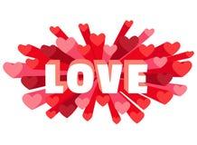 Romance heart spray LOVE greeting card or invitation Royalty Free Stock Photos