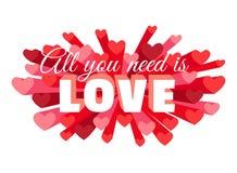 Romance heart spray LOVE greeting card or invitation Royalty Free Stock Photo