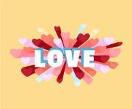 Romance heart spray LOVE greeting card or invitation Stock Photos
