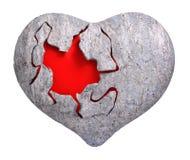 Romance heart of stone 3d rendering. Romance heart of stone isolated 3d rendering Stock Photos