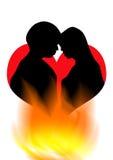 Romance Kuss Stockbild