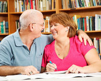 Romance at the Library Stock Photography