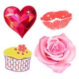 Romance lovely set Royalty Free Stock Photography