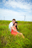 Romance at the meadow Stock Photos