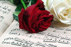 Romance and music Stock Images
