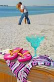 Romance na praia Imagens de Stock Royalty Free