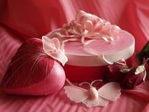 Romance na seda Foto de Stock