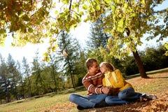 Romance outonal Foto de Stock Royalty Free