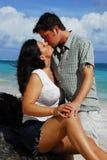 Romance: Paar-Küssen Stockfoto